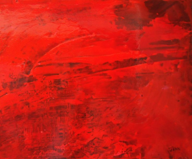 Red Storm - 20x24 - Acrylic on canvas - artist Jean Morrow