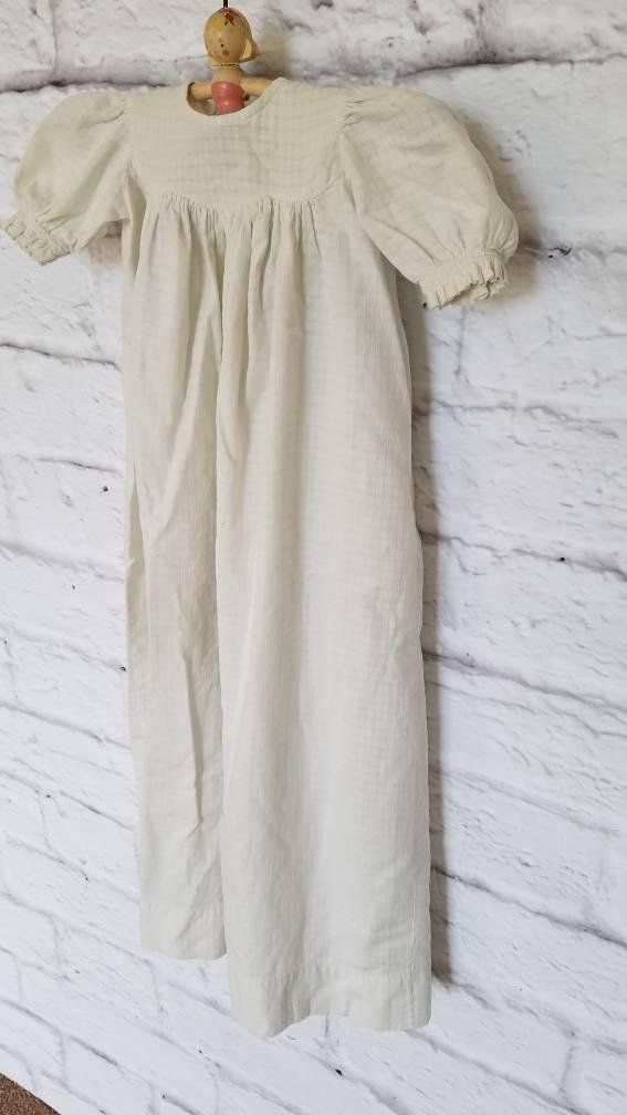 fa33a0453 Vintage Christening Gown. Handmade Christening Gown. Simple Baptism Gown.  Antique Christening Gown. Cotton Christening Gown.