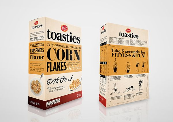 Student: Post Toasties — The Dieline - Package Design Resource