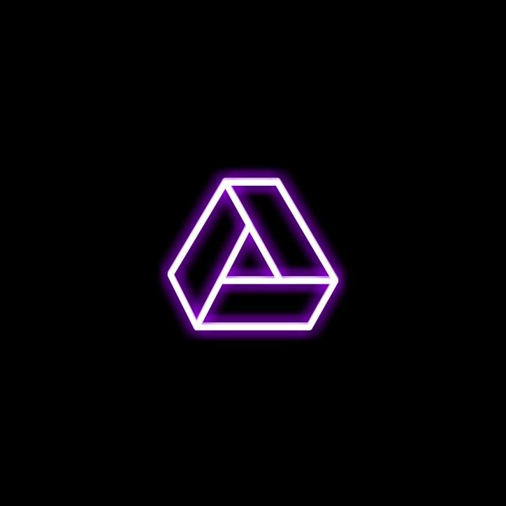 Google Drive Icon Iphone Photo App Purple Wallpaper Iphone Neon Purple