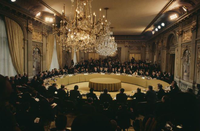 Signing of the PARIS PEACE ACCORDS, the agreement that effectively marked the end of U.S involvement in the Vietnam War.  ~ January 27, 1973