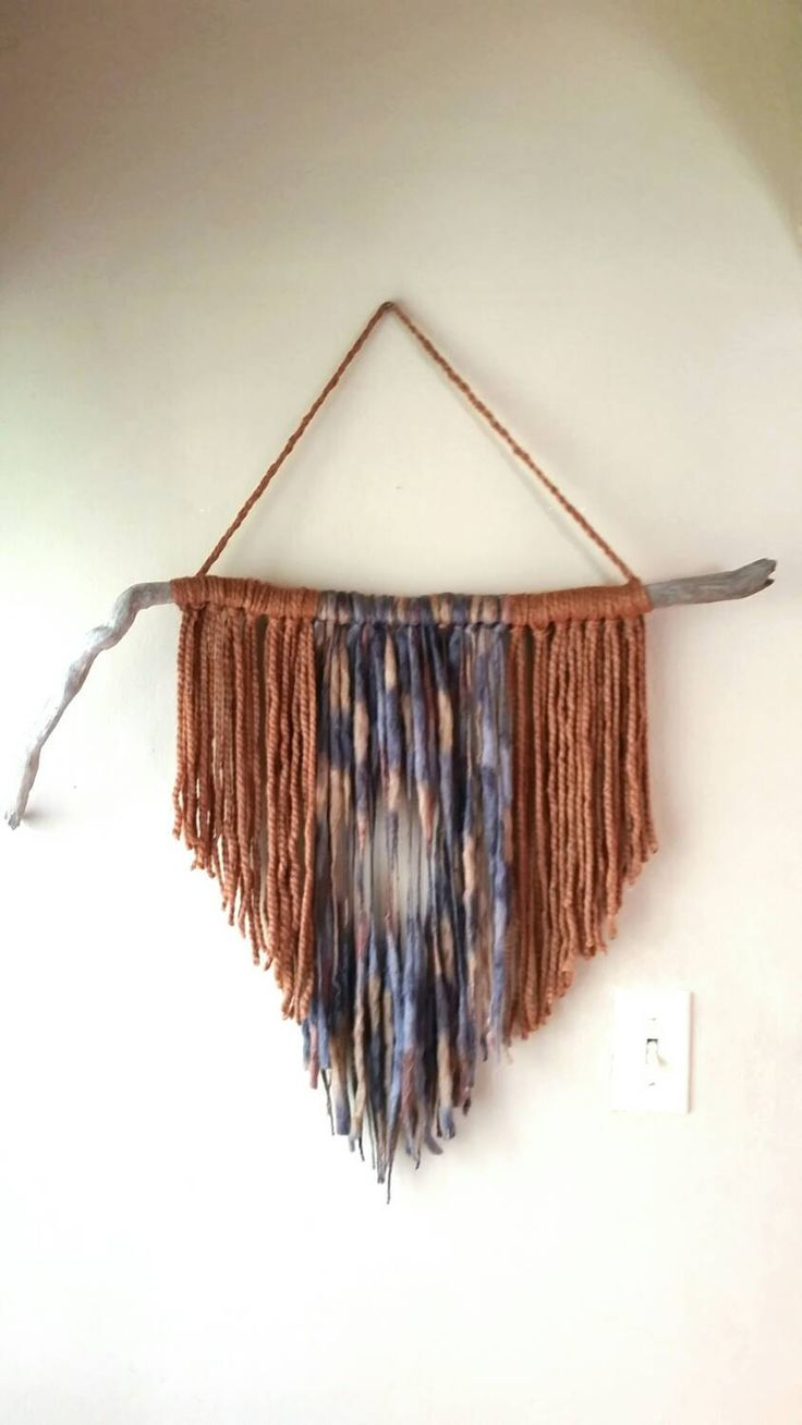 Driftwood wall hanging, Minimalist art, Driftwood wall art, Bohemian wallhanging, Yarn wallhanging, Trending art, Decorating ideas, - pinned by pin4etsy.com