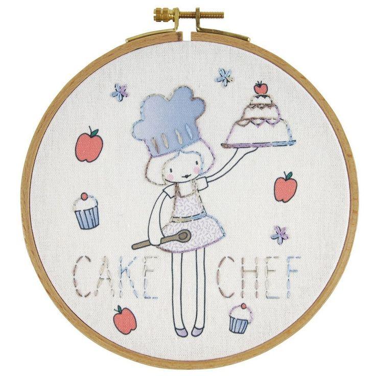 Kit broderie enfant cake chef - Mondial Tissus