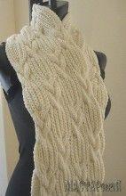 Красивый шарф с косами.Вязание спицами.Схема