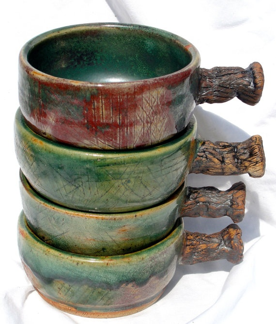 French Onion Soup Bowls Crocks  Set of 4  by RisingStarPottery1, $100.00