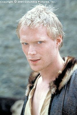 Paul Bettany from A Knight's Tale - he's weird-looking, but oddly attractive.