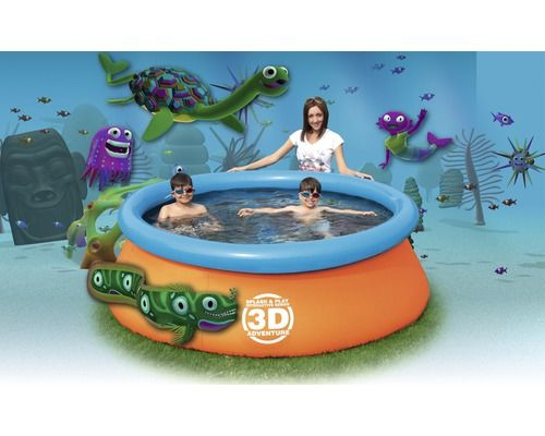 Planschbecken Bestway 3D Adventure Pool Ø213x66cm