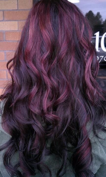 Curls with Purple Highlights