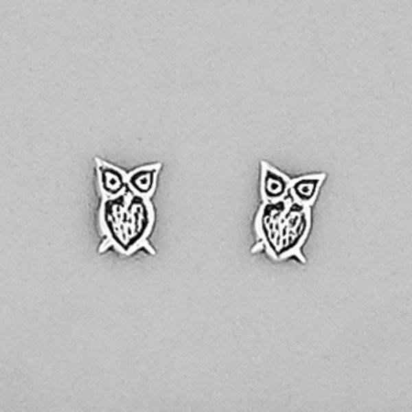 Sterling Silver Owl Stud Earrings - All That I Need