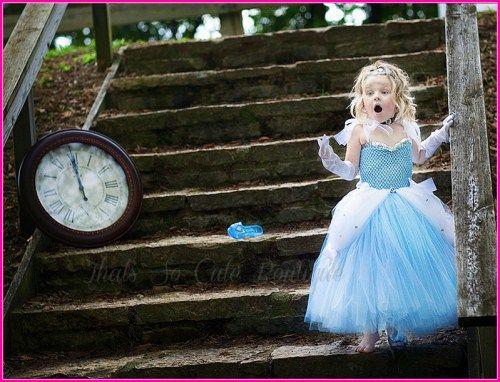 Cinderella Tutu Dress, blue flower girl dress, princess tutu dress