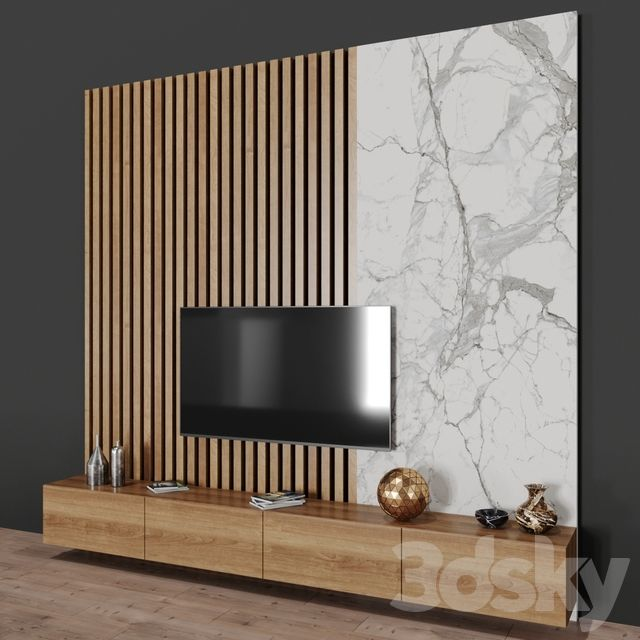 3d Models Tv Wall Tv Stand Tv Room Design Room Wall Colors Wall Tv Stand