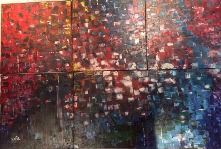 Acrílico y Oleo sobre canvas  Técnica espatula