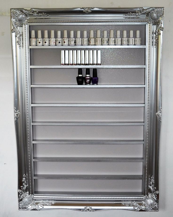 A personal favourite from my Etsy shop https://www.etsy.com/uk/listing/400772433/nail-polish-rack-silver-chrome-sparkle