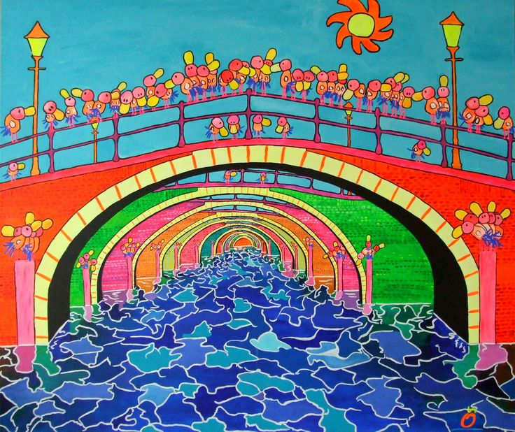 """""""COLORFUL WATER MANAGEMENT"""". 47.2-39.4 Inch (120-100 cm)