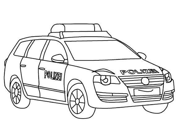 ausmalbilder polizeiauto e1541673464514 #cute #
