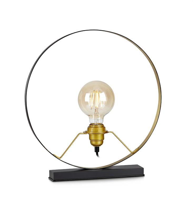 Bordsdekoration Solberg är en lampa i svart och guld metall från Markslöjd. #markslöjd #lamp #interior #interiör #inspiration #bordslampa