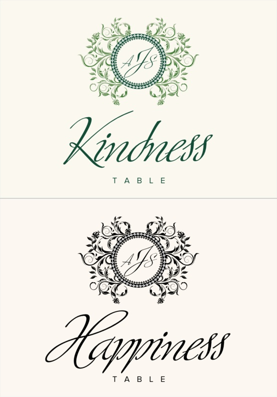 Gingee Weddings Table Names Contemporary And Clic