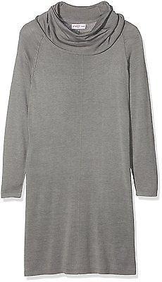 UK XL, Grau (grau Grau Meliert), sheego Women's Strickkleid Mit Rollkragen Casua
