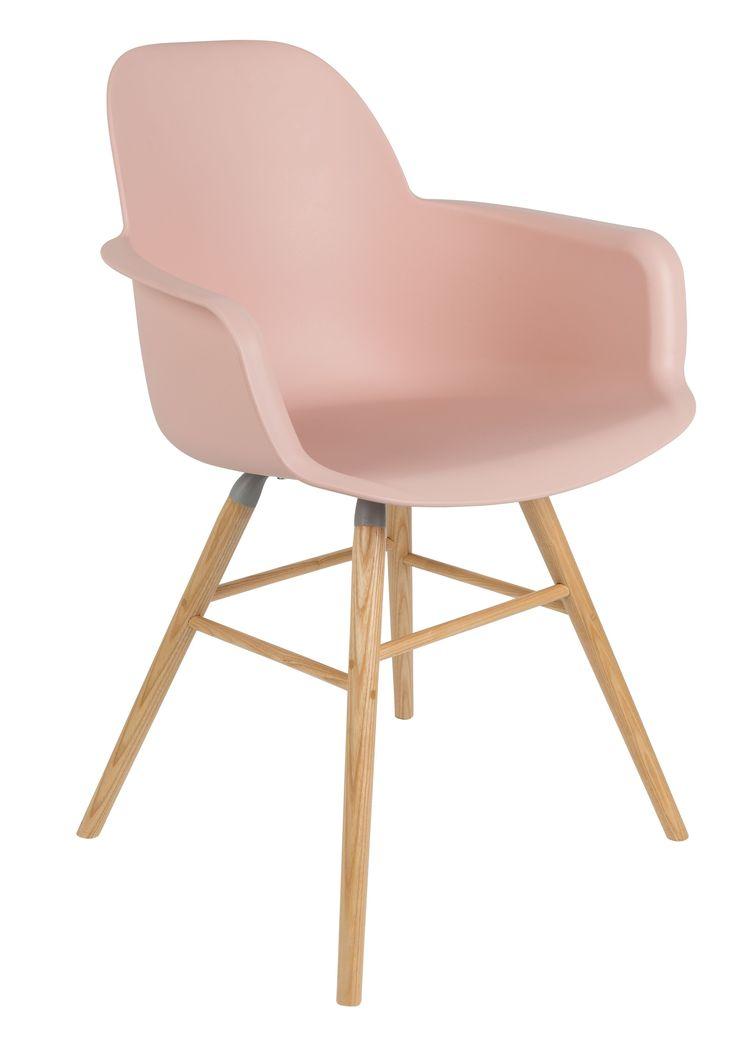 Albert Kuip stoel met armleuning oud roze - Zuiver | Robin Design