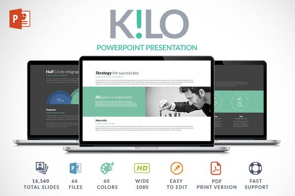 Kilo | Powerpoint Presentation by Zacomic Studios on @creativemarket