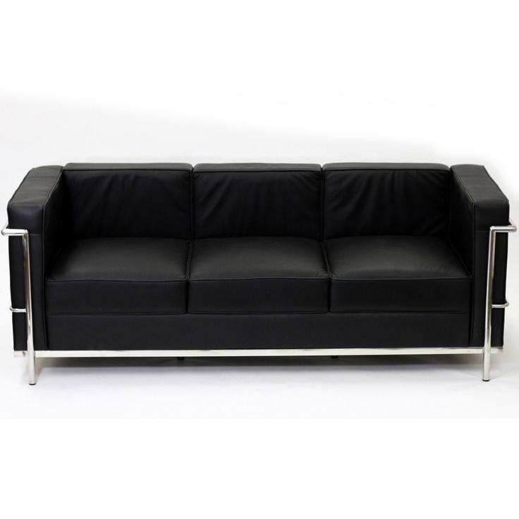 Lc2 Le Corbusier Pe Sofa In Genuine Leather
