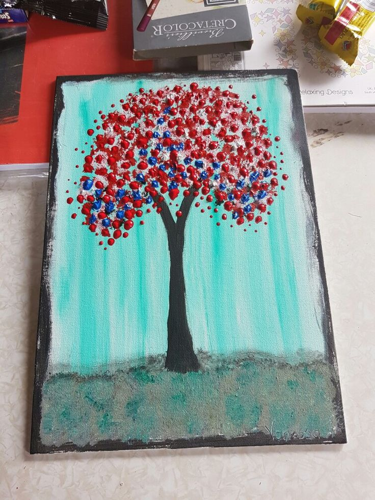 Arty tree A4 canvas