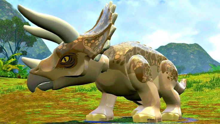 Lego Jurassic World.Динозавры прохождение.Игры Мультики про Динозавров.М...