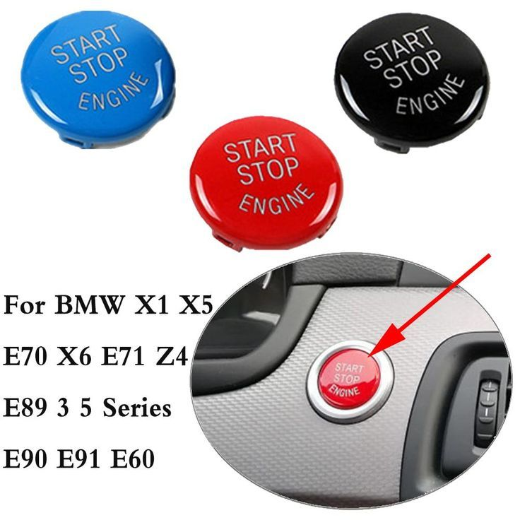 Car Engine START Button Replace Cover STOP Switch Accessories Key