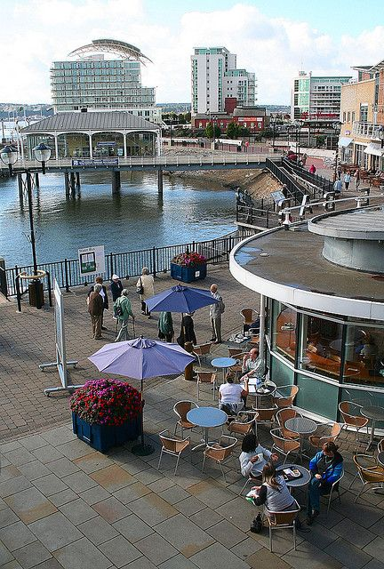 View Over Mermaid Quay, Cardiff, Wales. The building on stilts is, interestingly enough, a formal Turkish restaurant.