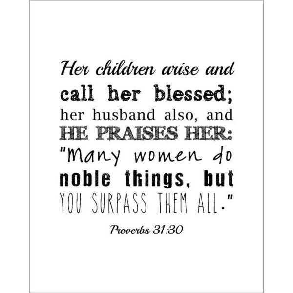 INSTANT DOWNLOAD Proverbs 31 woman quote print gift for Christian wife... ❤ liked on Polyvore featuring quotes