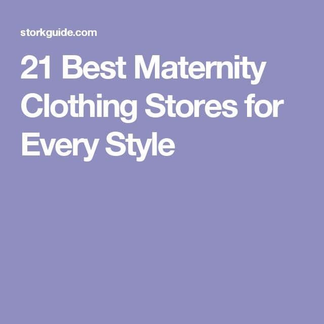 21 Best Maternity Clothing Stores for Every Style