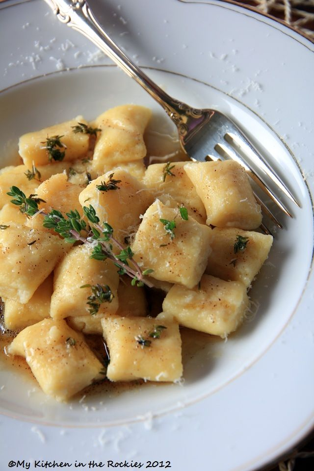 Ricotta Gnocchi with browned Thyme Butter