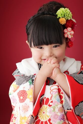 Little Japanese girl.  Precious!
