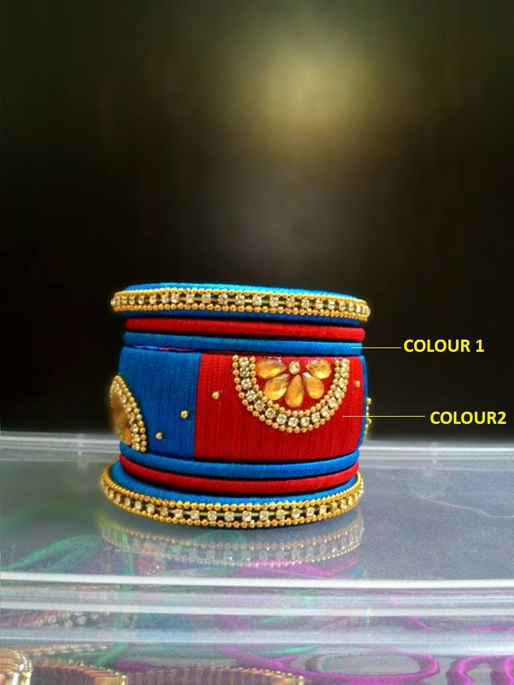 Red and Blue Designer Bangle Set