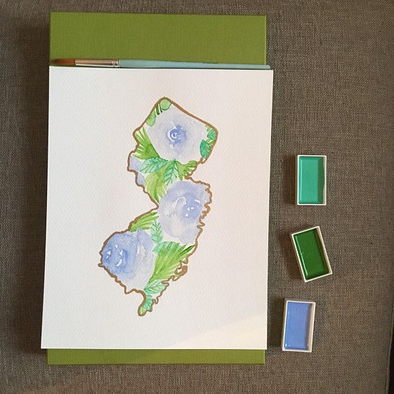 Custom New Jersey State Map Wall Art State Wedding Gift State