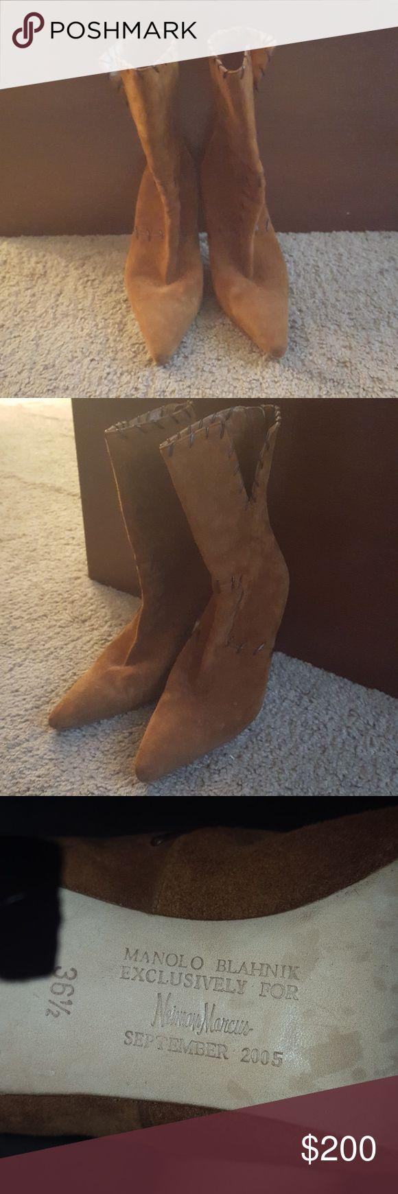 Monolo Blahnik Exclusively for Neiman Marcus Monolo Blahnik boots European size 36 1/2. Neiman Marcus Shoes Heeled Boots