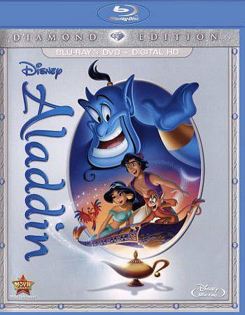 Aladdin Blu-ray/DVD 2015 2-Disc Set Diamond Edition Disney Robin Williams