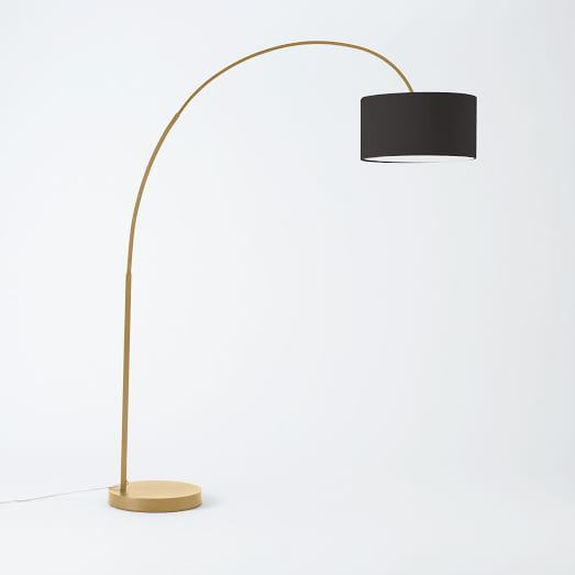Overarching Floor Lamp- Antique Brass | West Elm