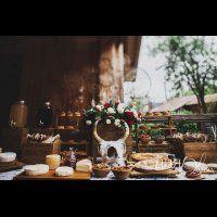 свадьба в стиле бохо во французских Альпах, закуски