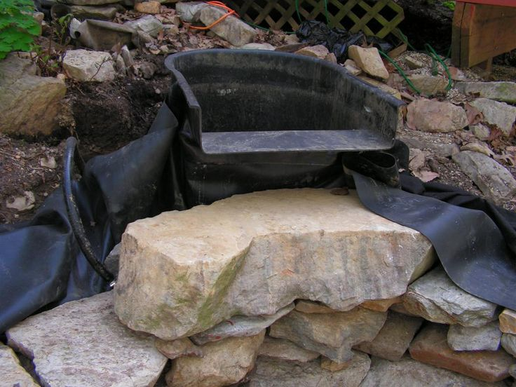 Small Backyard Waterfall Ponds Using Preformed Ponds Below I Am Constructing A Live Planted
