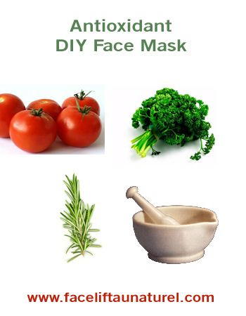 Antioxidant Face Mask Recipe • This simple, easy-to-make anti aging facial mask contains a high amount of antioxidants which are essential for keeping your skin healthy and youthful looking. For best results, buy the freshest ingredients you can find and use them as soon as possible.