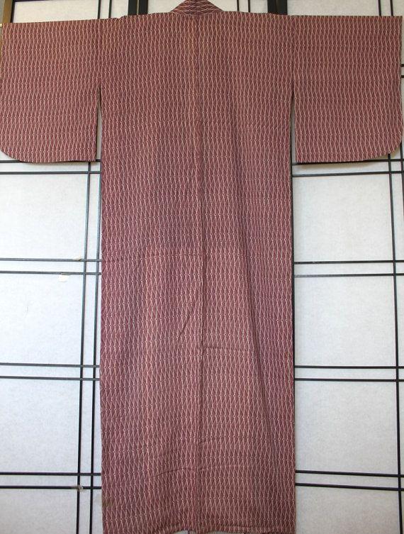 Japanese Vintage Kimono / Wave Pattern by Orientalvintage88, £29.50
