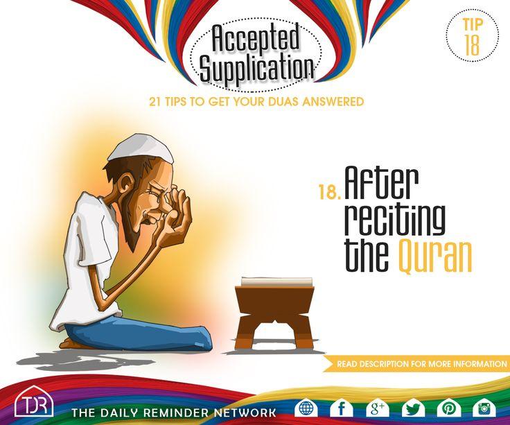 Tip #18 - Dua after reciting the Quran. Raed More : https://instagram.com/p/5EXMpDGtpx/