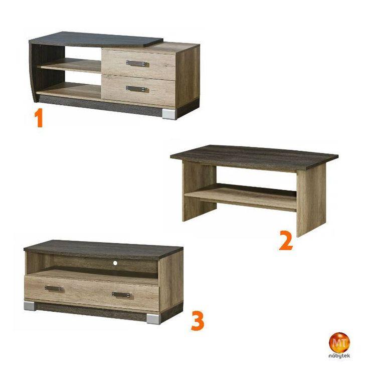 V žádném obýváku nesmí chybět konferenční stolek a stolek pod televizi 1 - http://goo.gl/K2mF7B; 2 - http://goo.gl/vDJQc0; 3 - http://goo.gl/hHrFeh