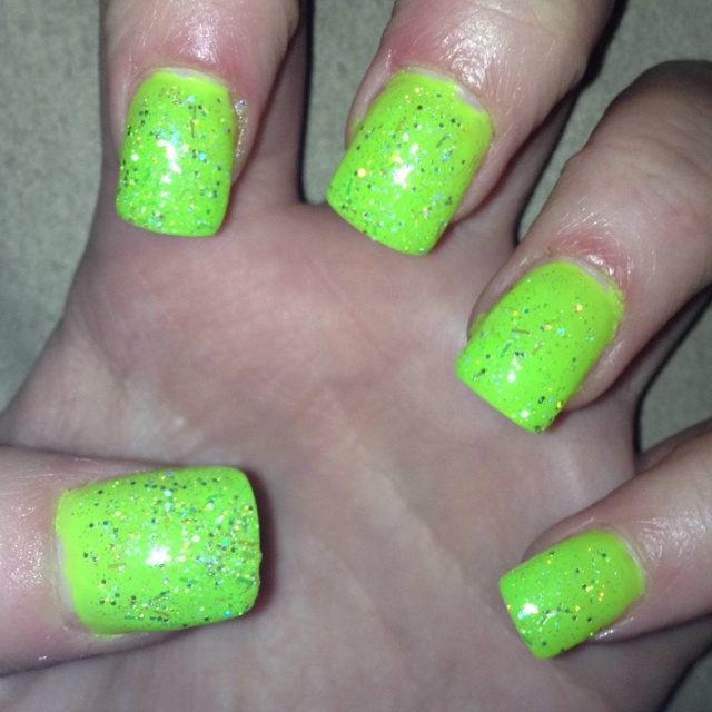 lime green nails ideas