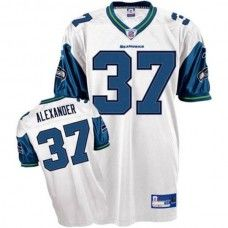 Seahawks #37 Shaun Alexander White Stitched NFL Jersey