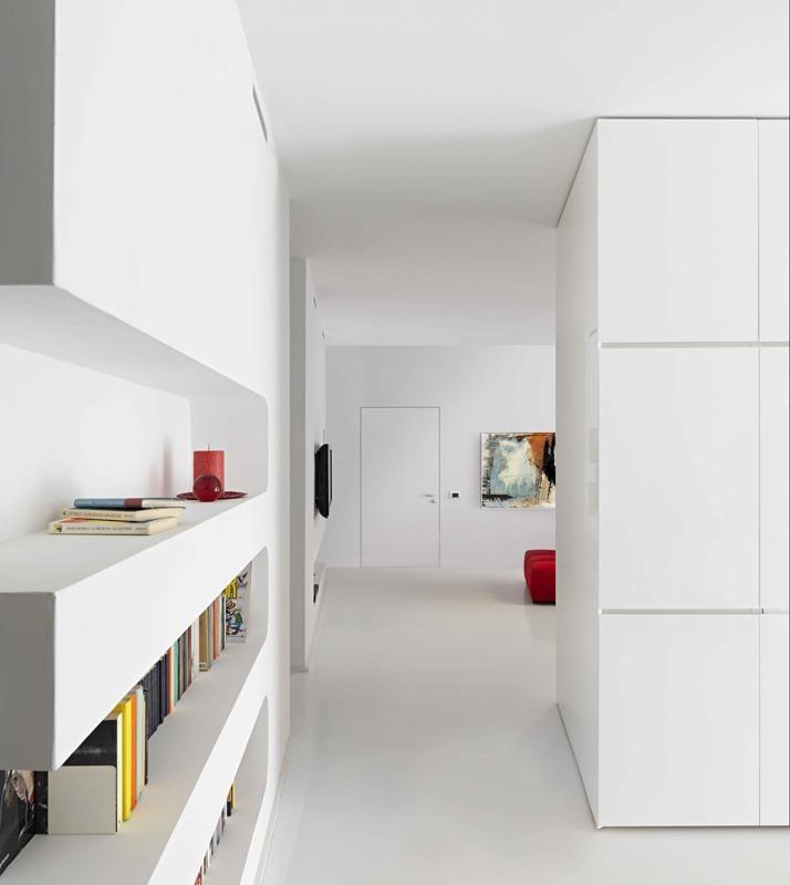 ANGE - Laqué blanc – Porte affleurante