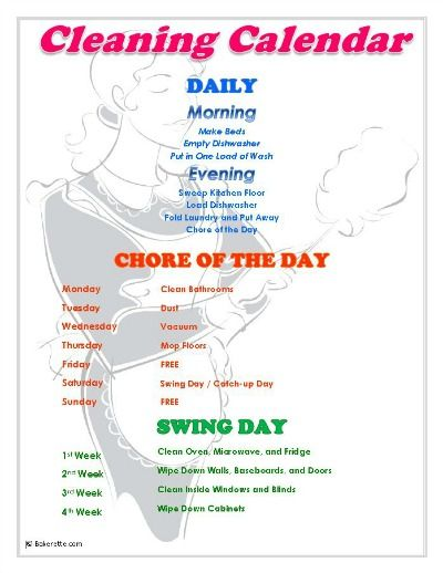 1000+ ideas about Weekly Chore List on Pinterest   Daily Chore List ...