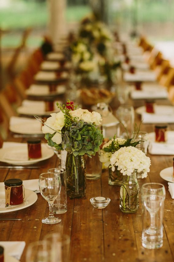 vintage timber trestle tables, wooden padded folding chairs, crockery, glassware, cutlery, south coast weddings, south coast party hire
