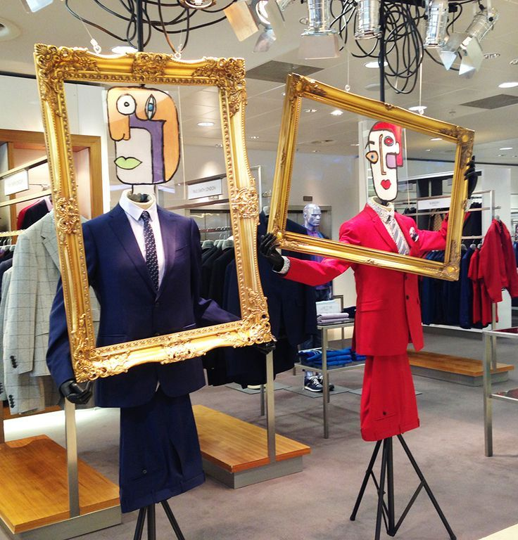 "Harvey Nichols, Edinburgh, Scotland, ""The Face is a Work of Art, it deserves a Great Frame"",pinned by Ton van der Veer"